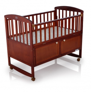 "26046 Wood Crib with rocking function (Fitted Mattress Size 25"" X 44"")"